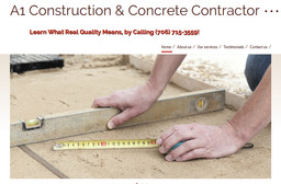 A1 Construction & Concrete Contractor on Maplewood Dr in