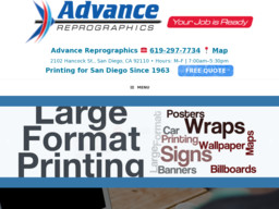 Advance reprographics on hancock st in san diego ca 619 297 7734 advance reprographics 2102 hancock st san diego ca 92110 619 297 7734 malvernweather Gallery