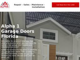 Alpha 1 Garage Doors Florida On Florida Ave In Tampa Fl 813 702