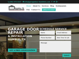 Armadillo Garage Door Repair On Pinion Ct In Humble Tx
