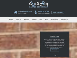 Gold Coin Garage Door Repair Katy