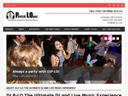DJ P-LO The Ultimate DJ and Live Music Experience