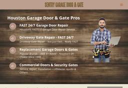 Sentry houston garage door gate on mckinney st in for Houston garage door repair