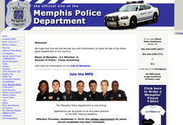 Memphis City - Police Division - Precincts - Uniform Patrol - South Prec