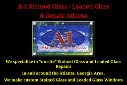 A1 Stained  Leaded Glass