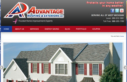advantage roofing exteriors inc on miller rd in kalamazoo mi 269 372 1691 roofing