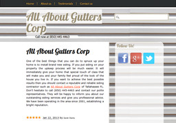 All About Gutters Corp On Faulk Dr In Tallahassee Fl
