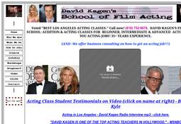 David Kagen's School of Film Acting
