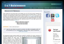 E & F Maintenance
