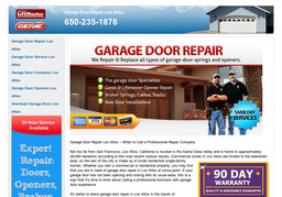 Garage Door Repair Los Altos On Edith Ave In Los Altos Ca