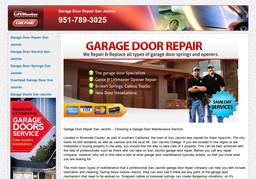 Garage Door Repair San Jacinto On Athol Pl In San Jacinto