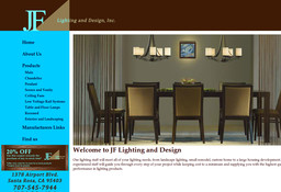 jf lighting and design on airport blvd in santa rosa ca 707 545