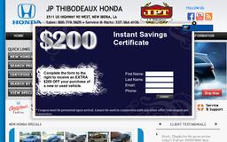 J P Thibodeaux Honda