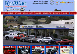 Ken Ware Chevrolet - Cadillac on Newmark St in North Bend, OR - 541