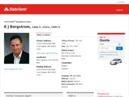 R J Bergstrom  State Farm Insurance