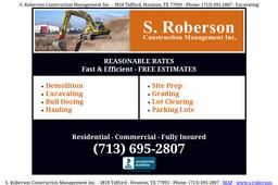 S Roberson Construction Management