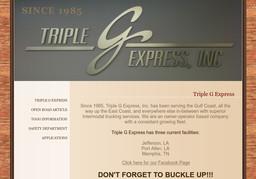 Triple G Express Inc