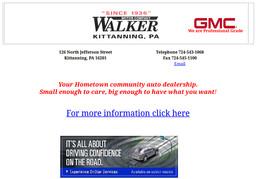 Walker Motor Co On Jefferson St In Kittanning Pa 724 543 1068