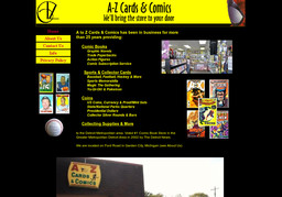 A To Z Cards Comics Coins