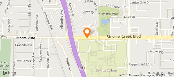 DE Anza College - Veterans Affairs Office in Cupertino, CA - 408-864 De Anza College Map on